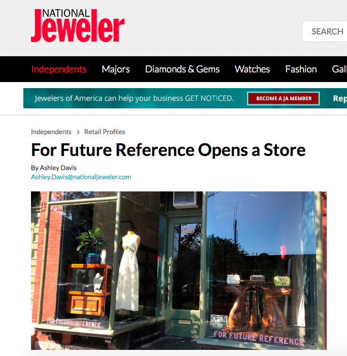 FFR Shop feature on National Jeweler