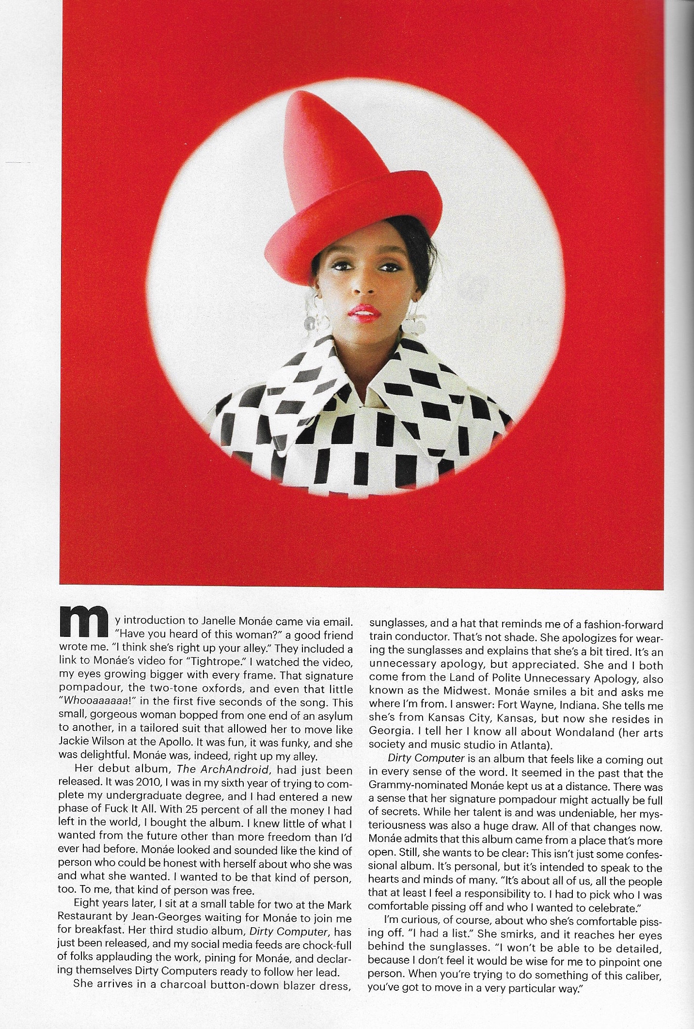 Ariana Boussard-Reifel on Janelle Monae - ALLURE July 2018