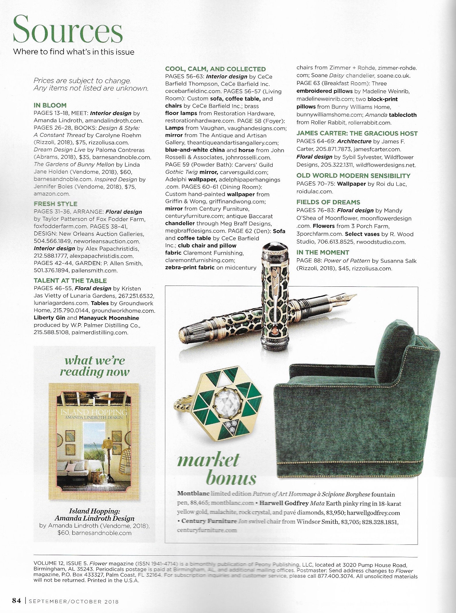Harwell Godfrey in Flower Magazine