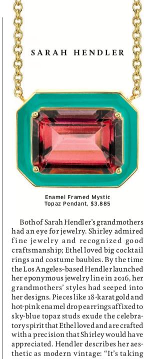 Sarah Hendler in Hemispheres Magazine