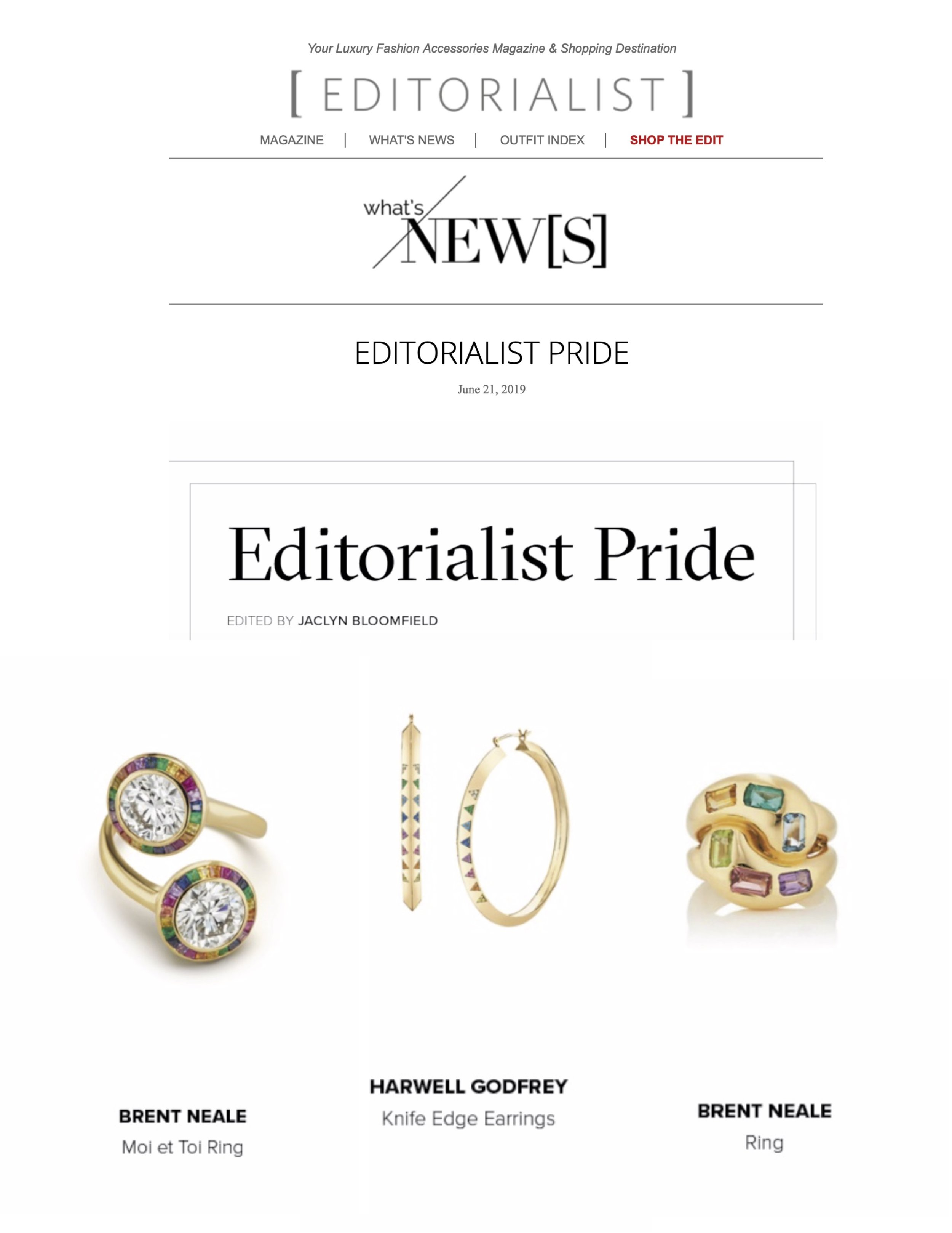 Harwell Godfrey + Brent Neale on Editorialist.com, June 2019