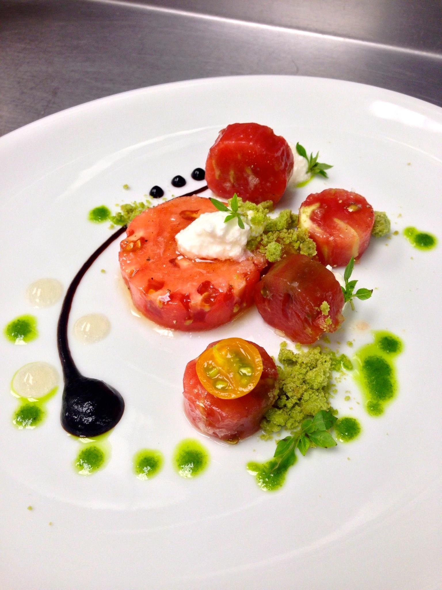 heirloom tomato, basil, ricotta, balsamic
