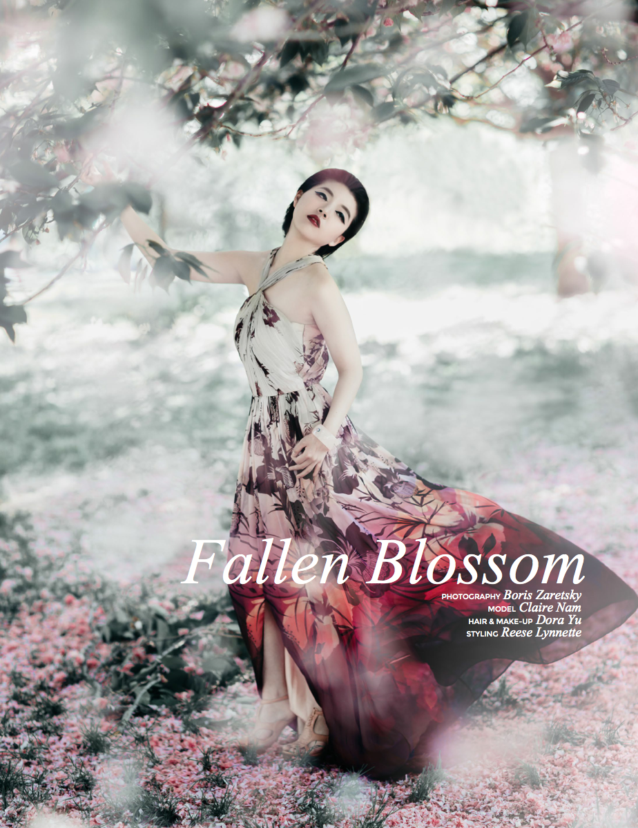 Fallen Blossom Nyc Editorial Fashion Photography By