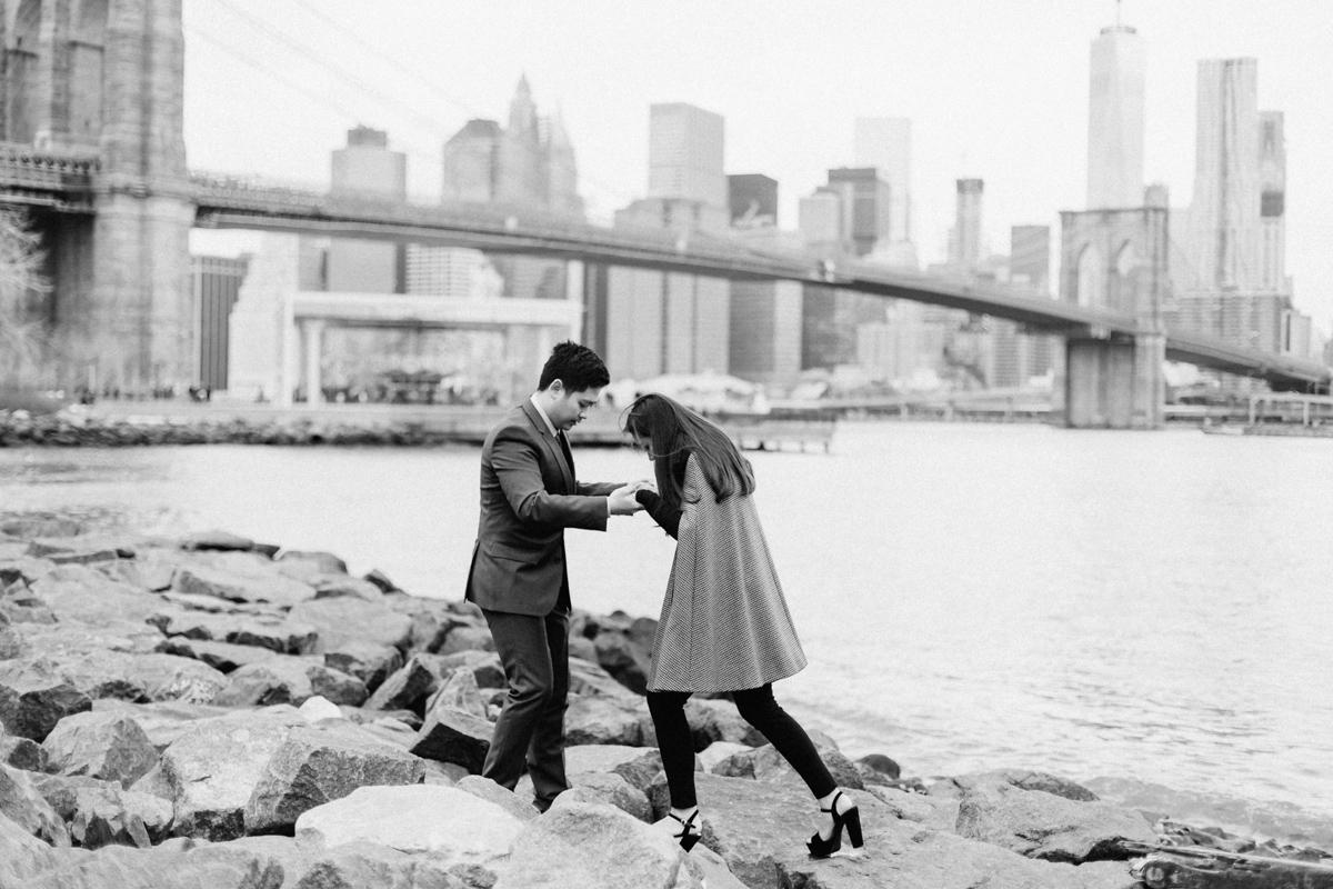 Brooklyn NYC Wedding Photographer Boris Zaretsky Bryant Park Dumbo Engagement-33.jpg