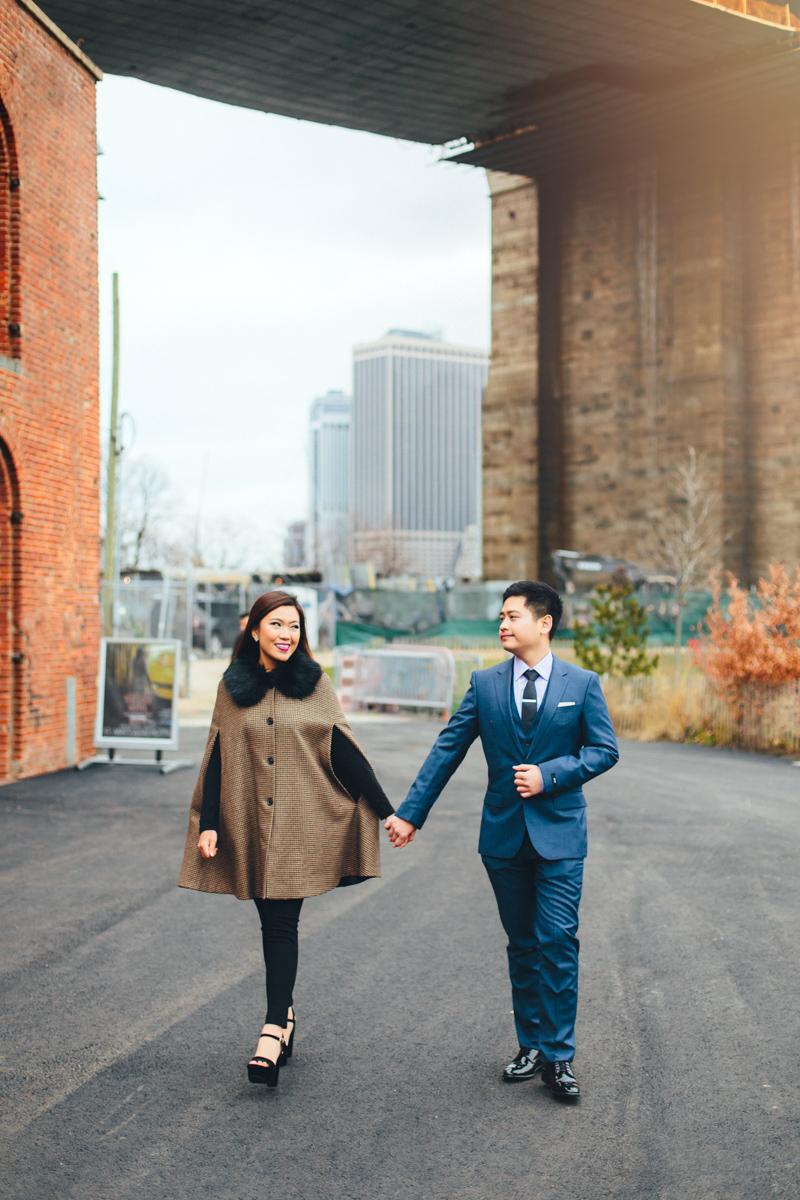 Brooklyn NYC Wedding Photographer Boris Zaretsky Bryant Park Dumbo Engagement-44.jpg