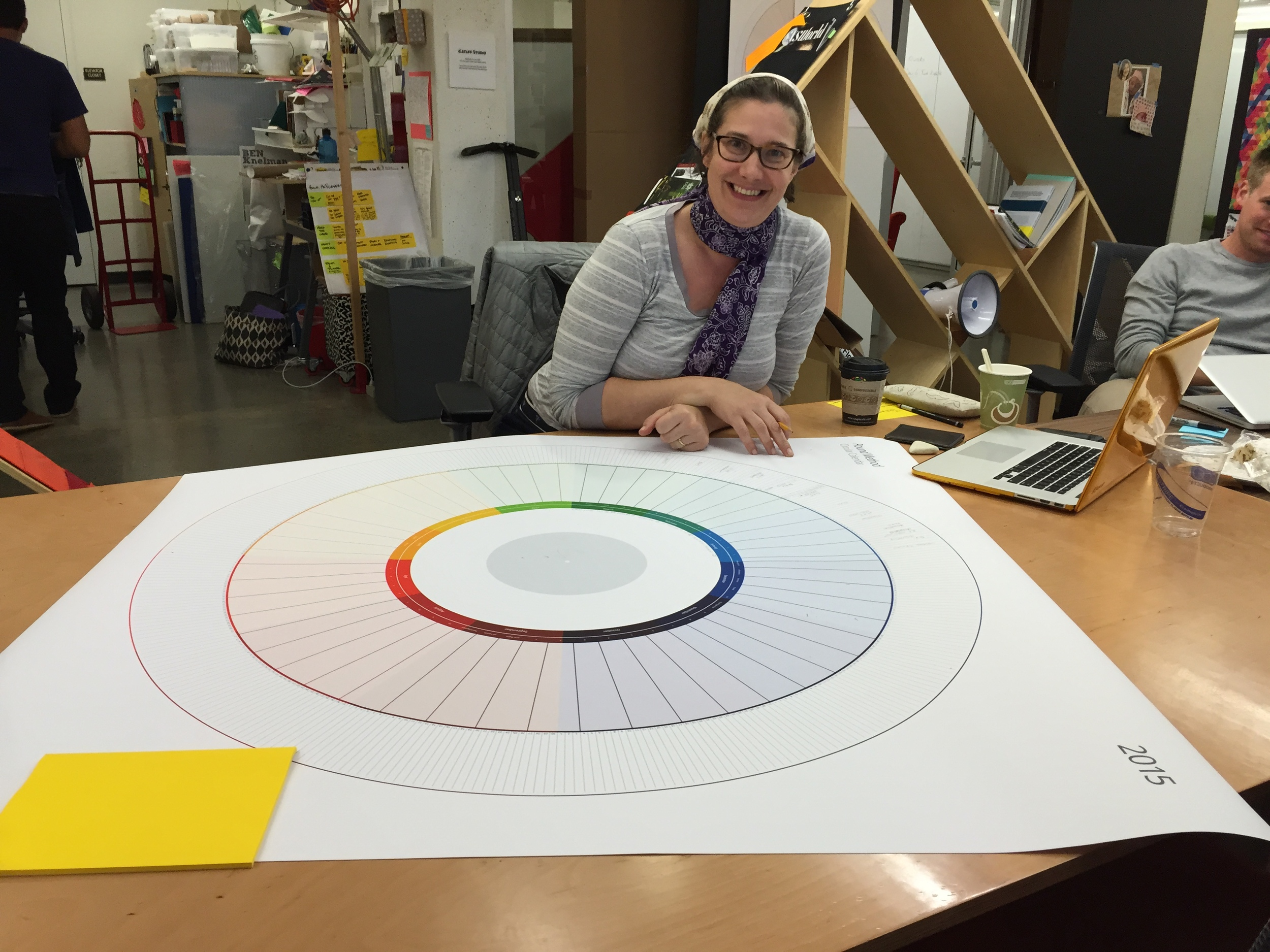 Charlotte begins planning for the year with a Round Method calendar she modified for her own personal schedule. (Emi Kolawole)