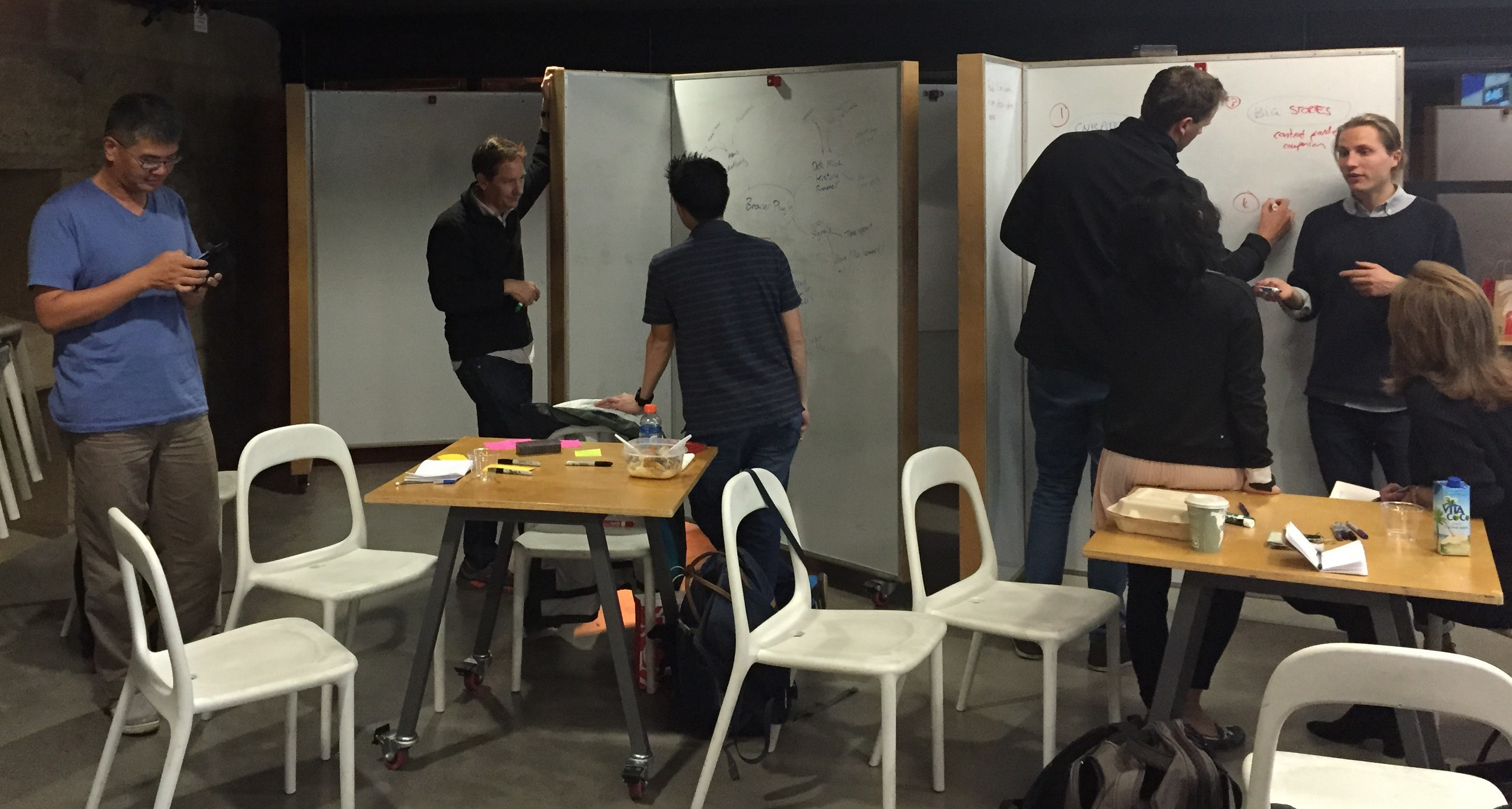 Students churn away on their ideas, implementing constraints and iterating on their ideas.