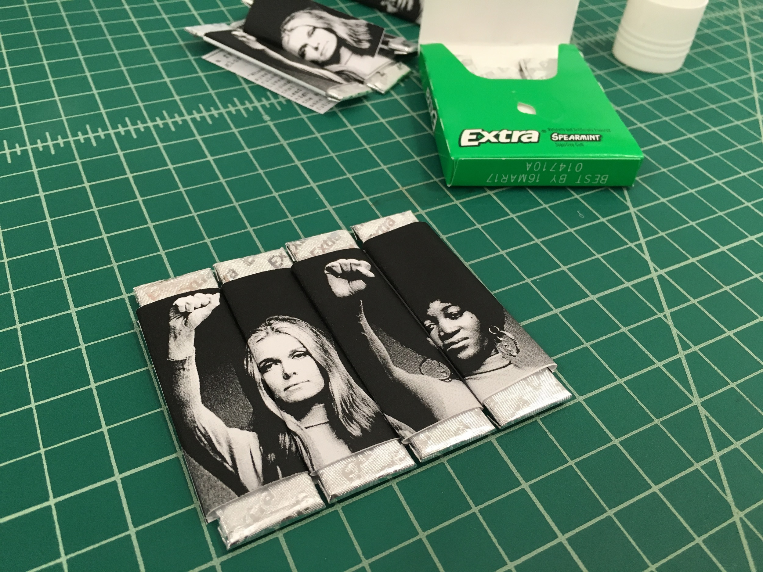 "A prototype of ""Feminist Gum"" by Laine Bruzek. (Photo by Laine Bruzek)"