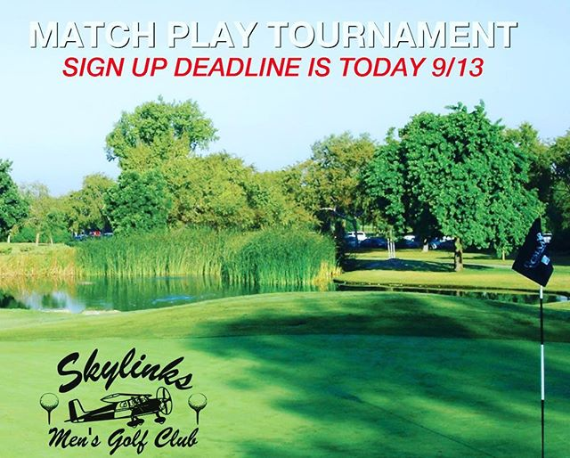 Today is the deadline to sign up for our Match Play tournament on 9/22. Please go to Skylinksmensgolf.com to sign up online! #skylinksmensclub #skylinksgolfcourse #skylinksgc #scga #longbeach #golf #golfclub #matchplaygolf