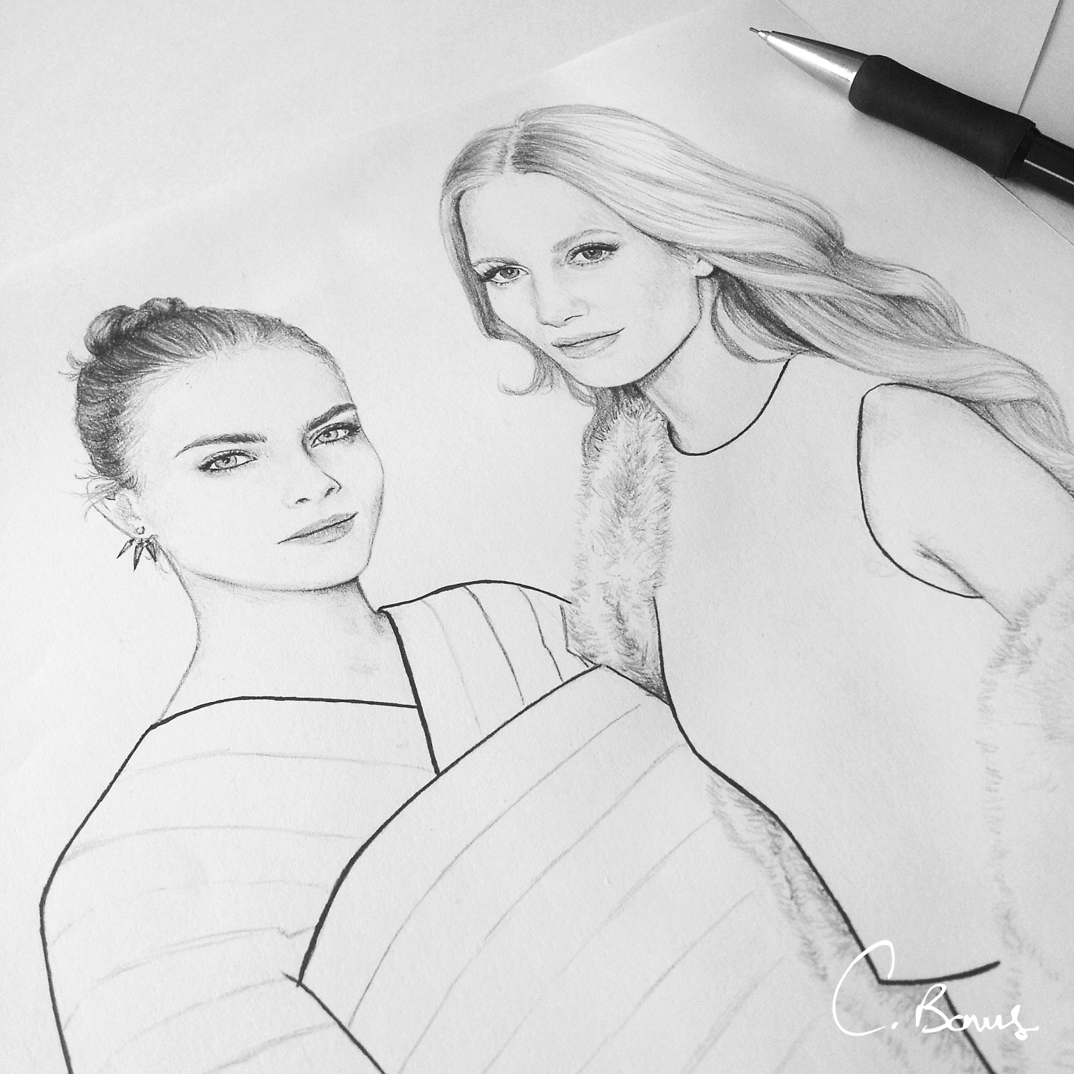 Cara and Poppy Delevingne, 2014
