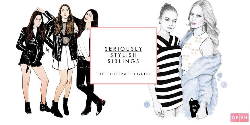 Illustration on left, Haim Sisters by Conor Merriman.
