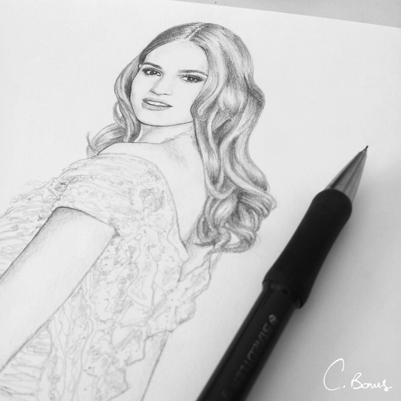 Lily James sketch