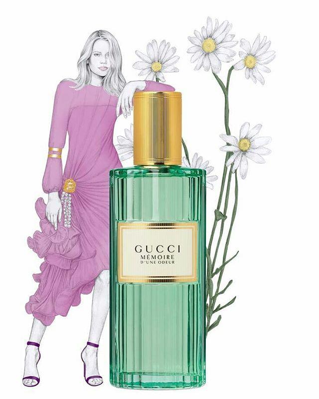 New #GucciMemoire illustration for @imagecontentstudio #Septemberissue. #Gucci #GucciBeauty #GucciPerfume #illustration #fashionillustration #sketch #fashionsketch #ImageMagazine