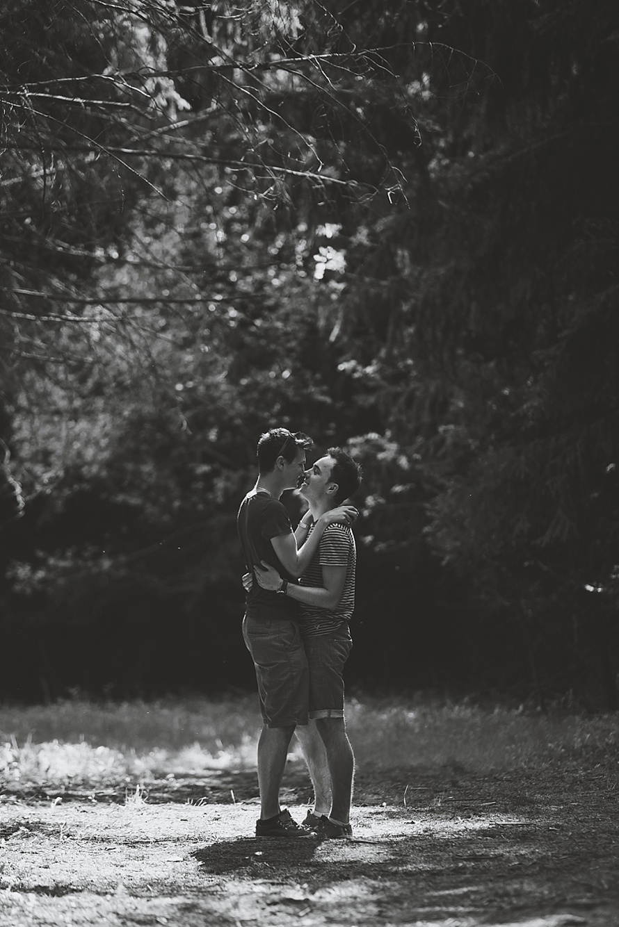 Surprise Forest Same-Sex Proposal  |  www.justloveweddings.ca