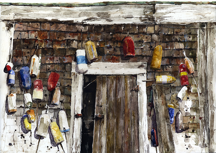 Fisherman's Barn with Bouys