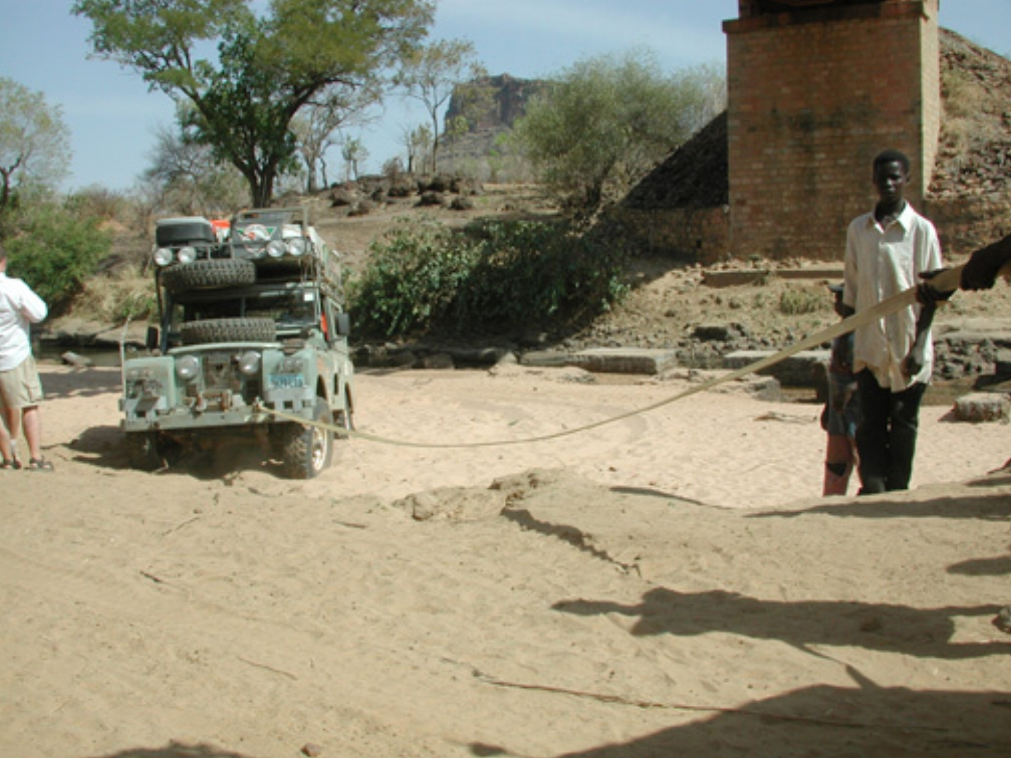 Michael Ladden's Land Rover stuck in Mali Africa
