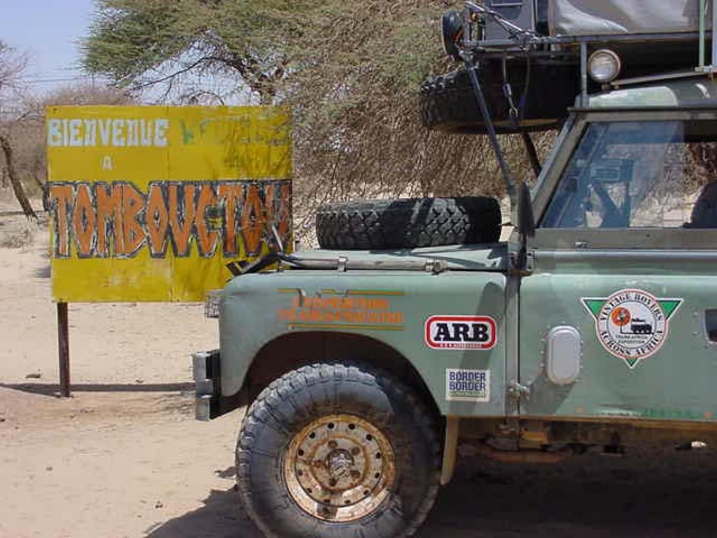 Michael Ladden's series IIA Land Rover in Timbuktu Mali