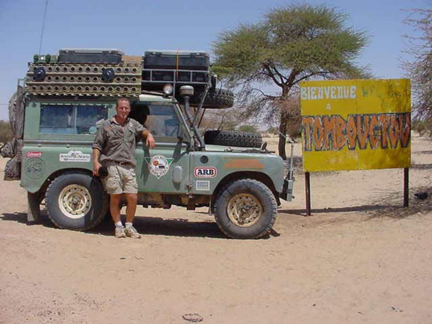 Michael Ladden, expedition leader in Timbuktu Mali
