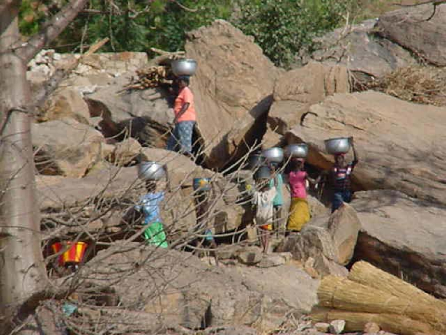 Climbing The Cliffs In Dogon