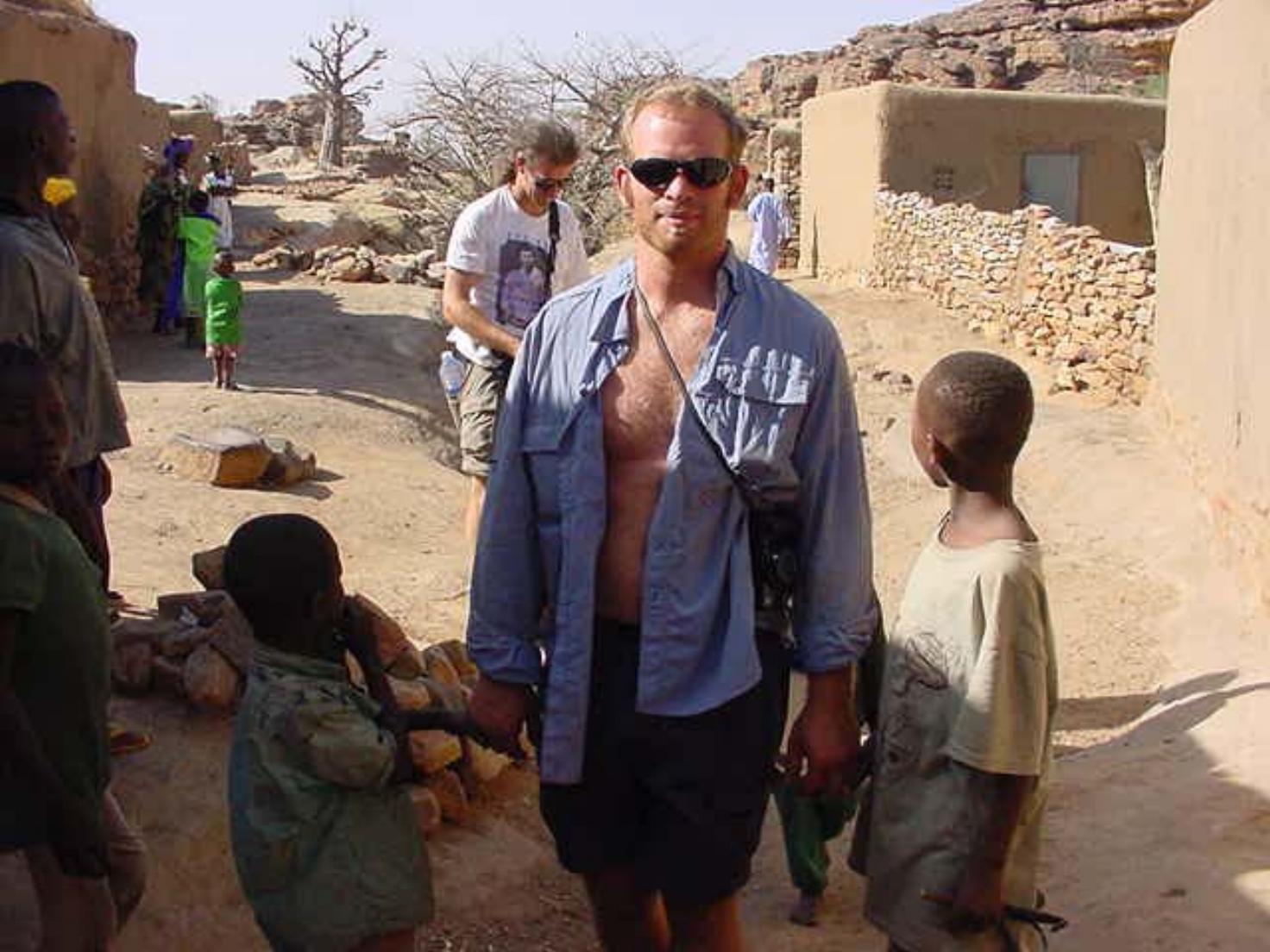 Shane Ballensky & local village childrenn
