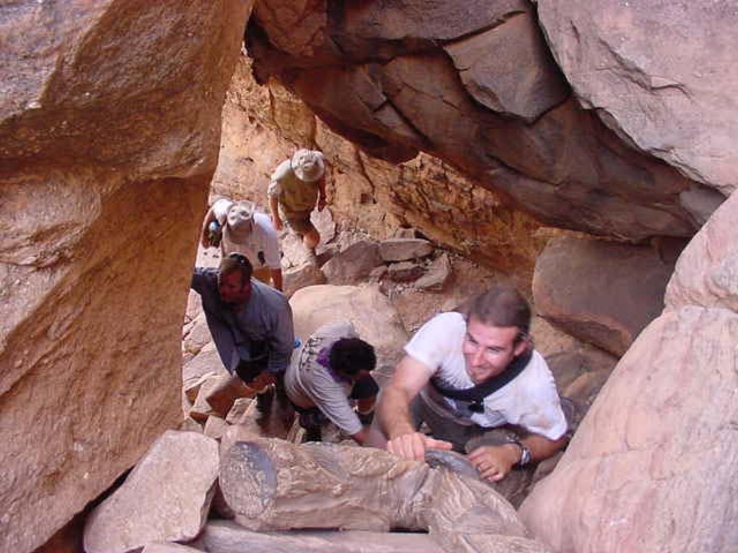 Jim Leach leads the group up the climb