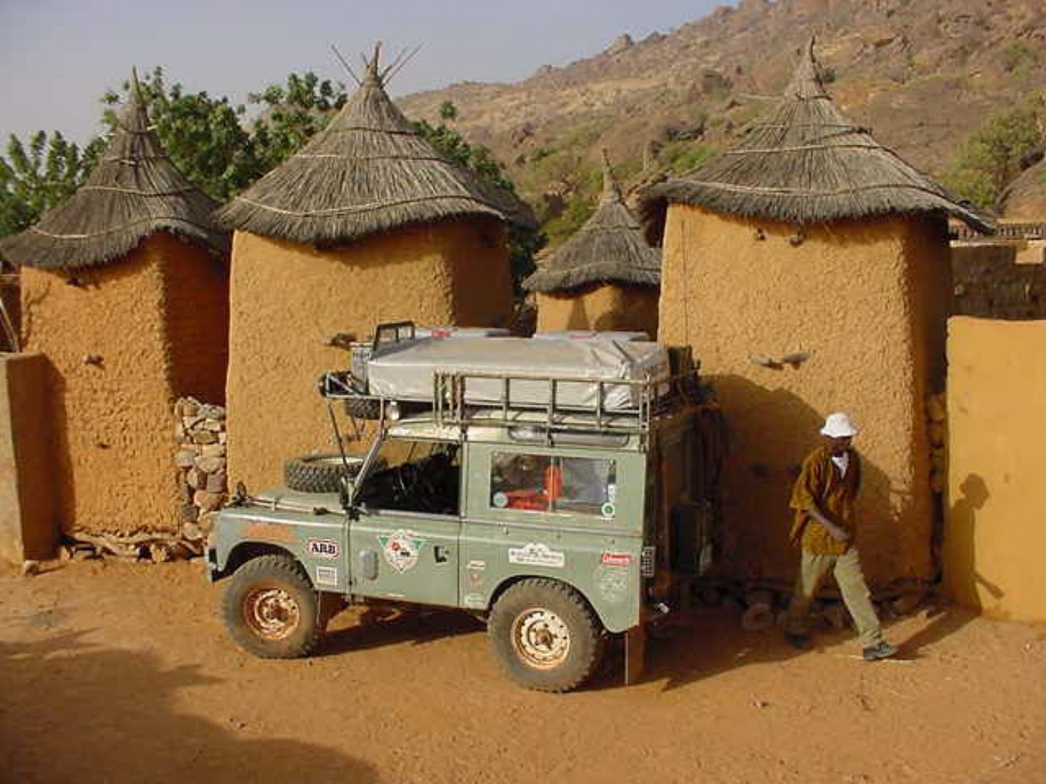 Michael Ladden's Land Rover in Dogon Mali