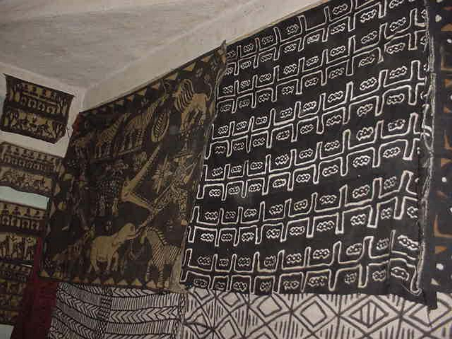 The animal tapestry now hangs in Michael Ladden's home