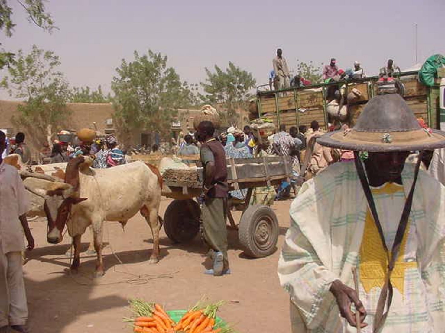 Lively streets of Djenne