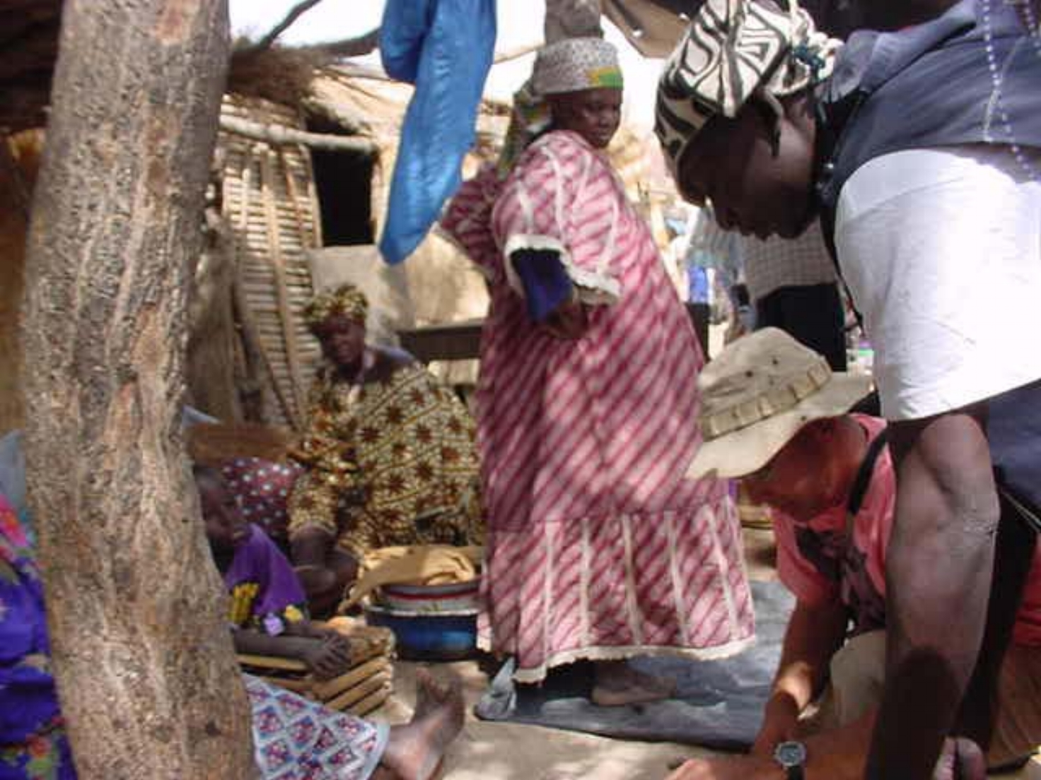 Just about everything is for sale at the market in Djenne