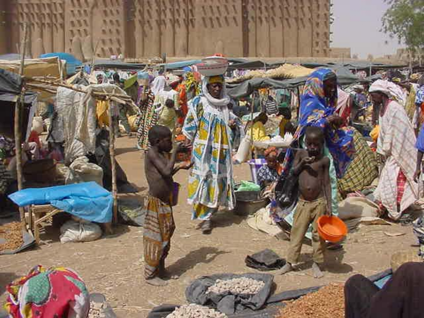 Local boys assist at the Djenne market