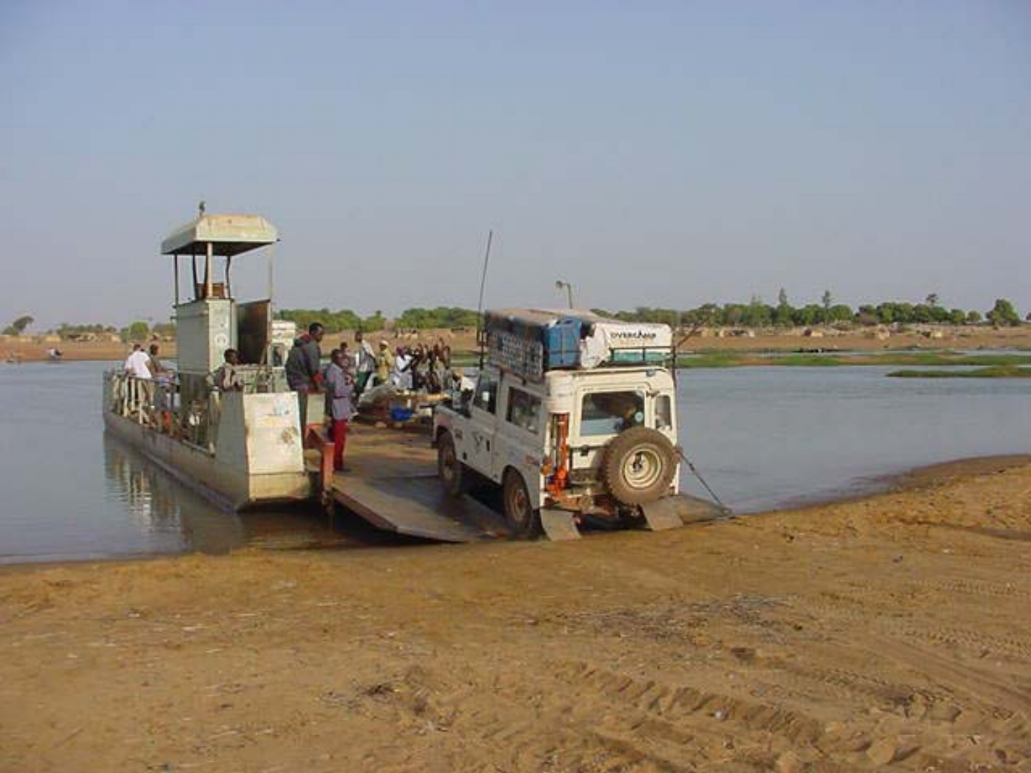 The Bani River ferry