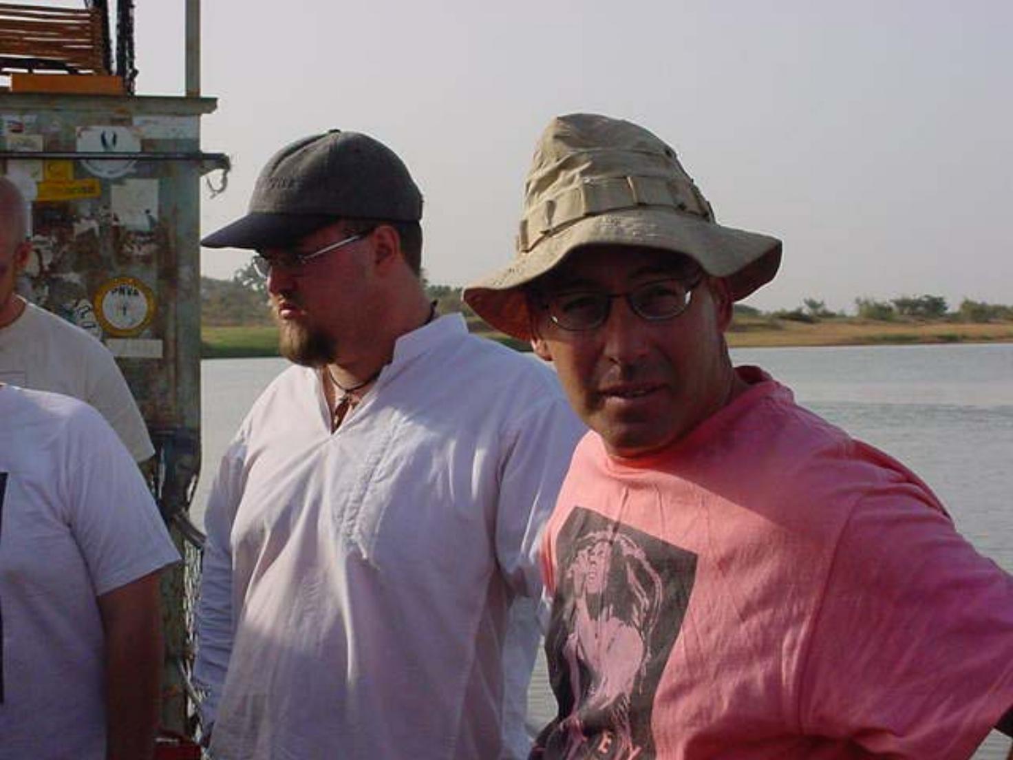 Paul Shumway & Al Cornell on board the Djenne ferry