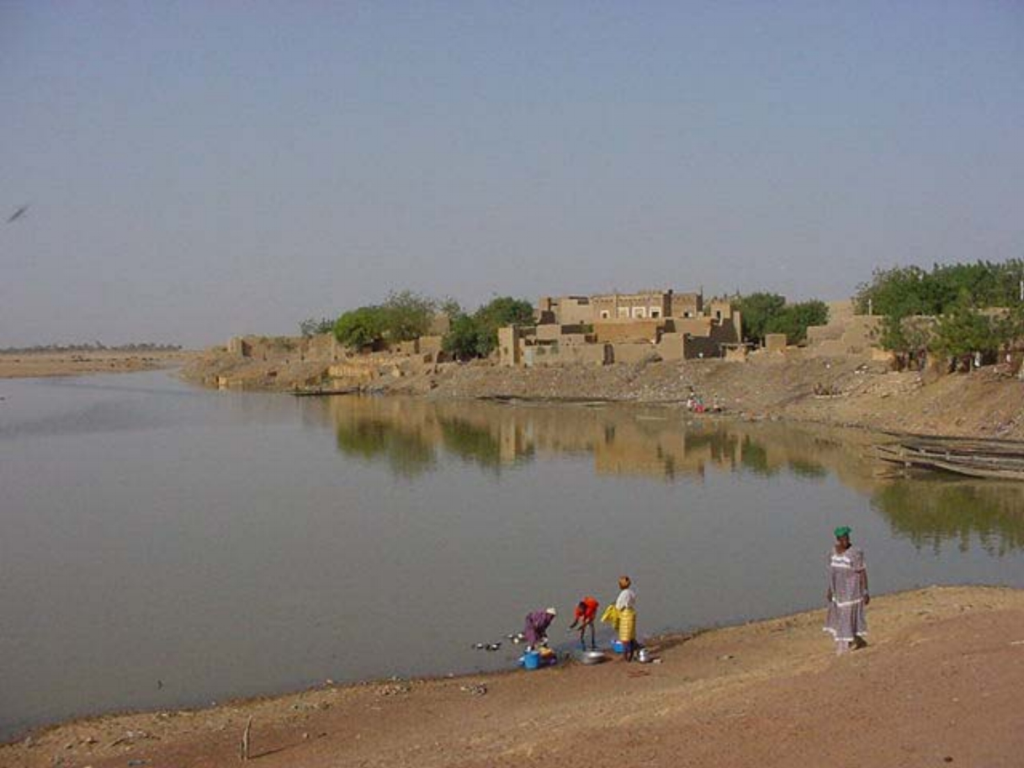Washing in the Bani River