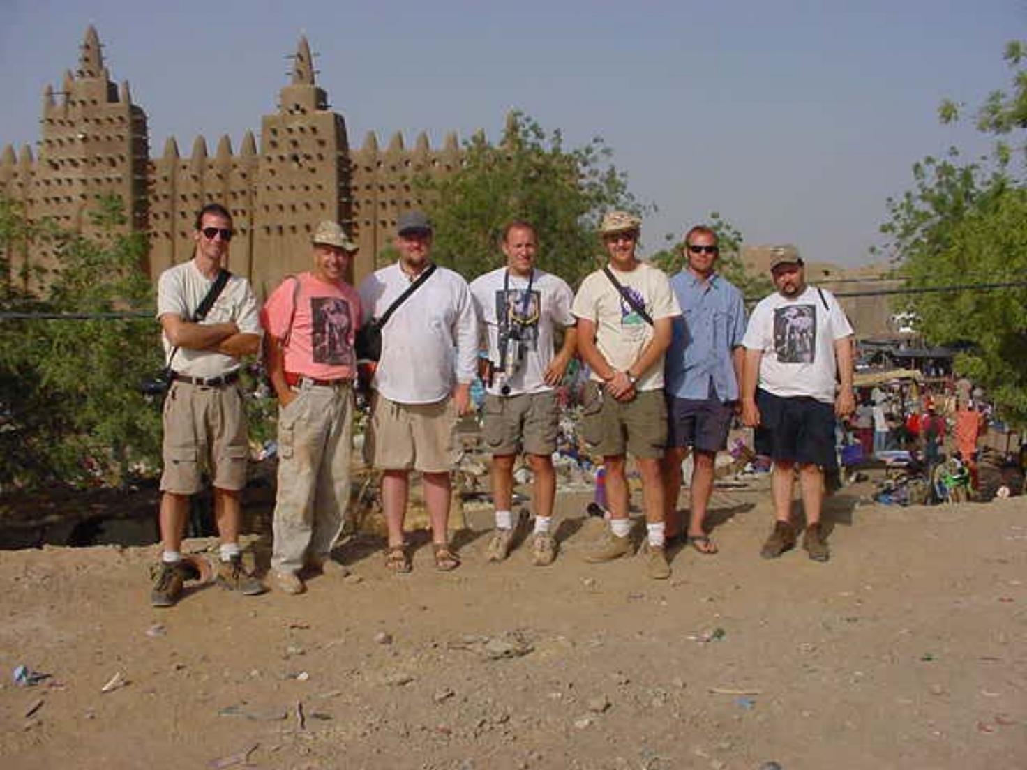 Drive The Globe Expedition Team (L-R) Jim Leach, Al Cornell, Paul Shumway, Michael Ladden, Wilson Bullard, Shane Ballensky, Ed Messenger
