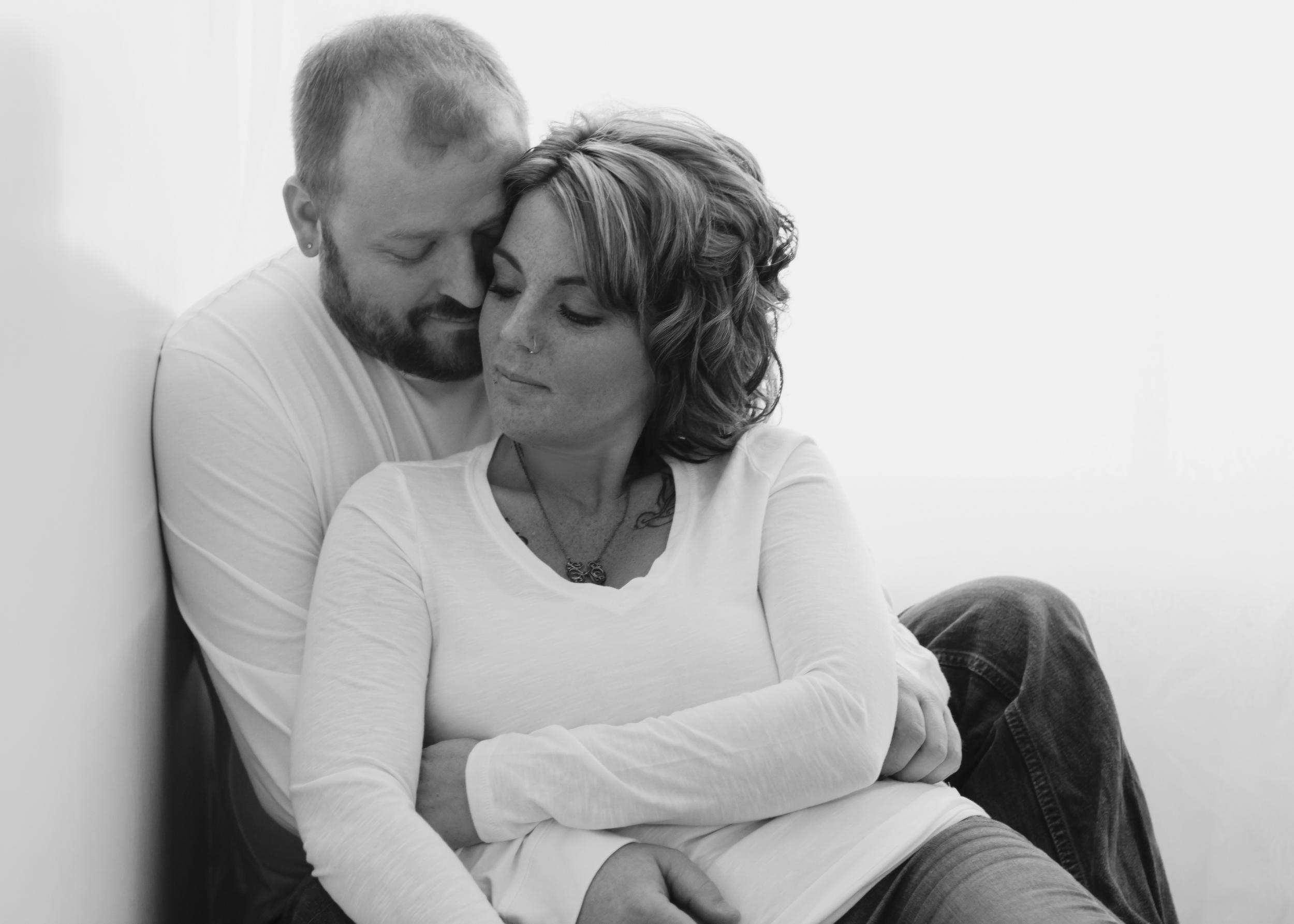 black&white, couple, backlight, intimate