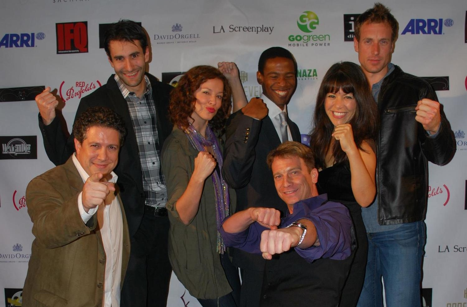 "Matt Markey, right center, and ""Ricky"" cast pose on the red carpet of the ""Beverly  Hills Film, TV and New Media Festival.""    Photo credit: Photo Courtesy of Matt Markey"