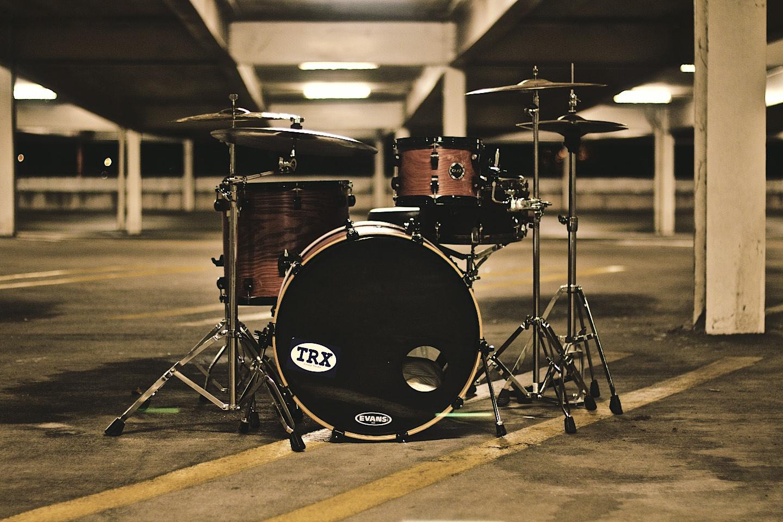 Drum Set in a Garage Band