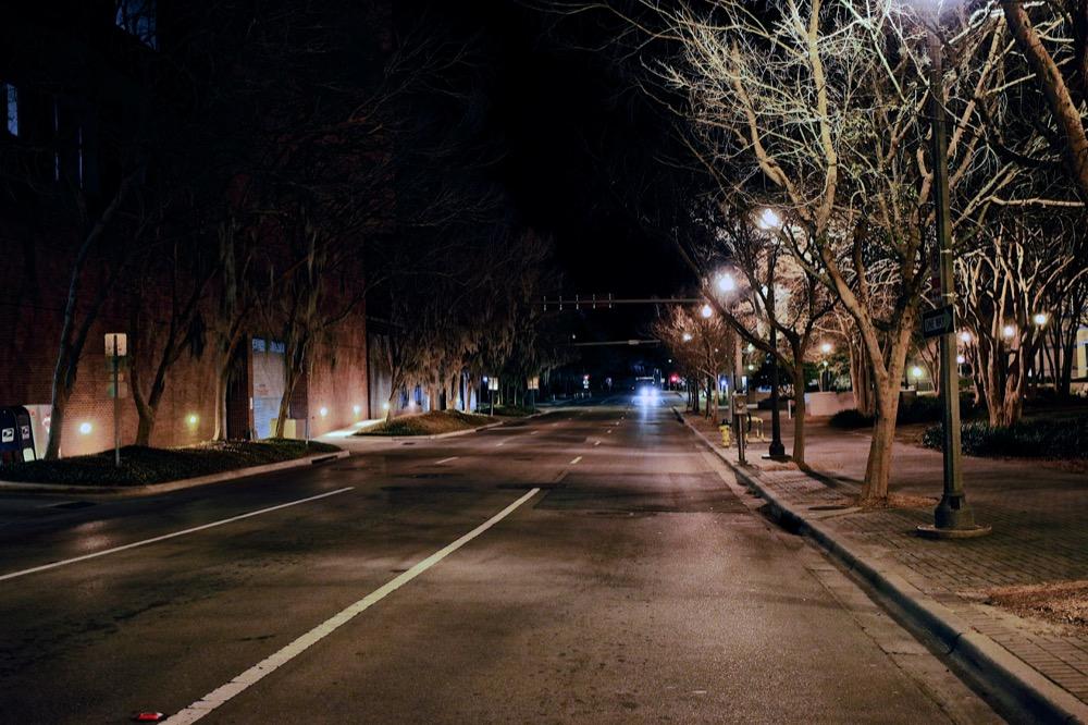 Tallahassee, Florida Street at Night. ©Samuel Febres