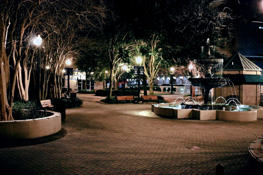 Downtown Park in Tallahassee at Night. ©Samuel Febres