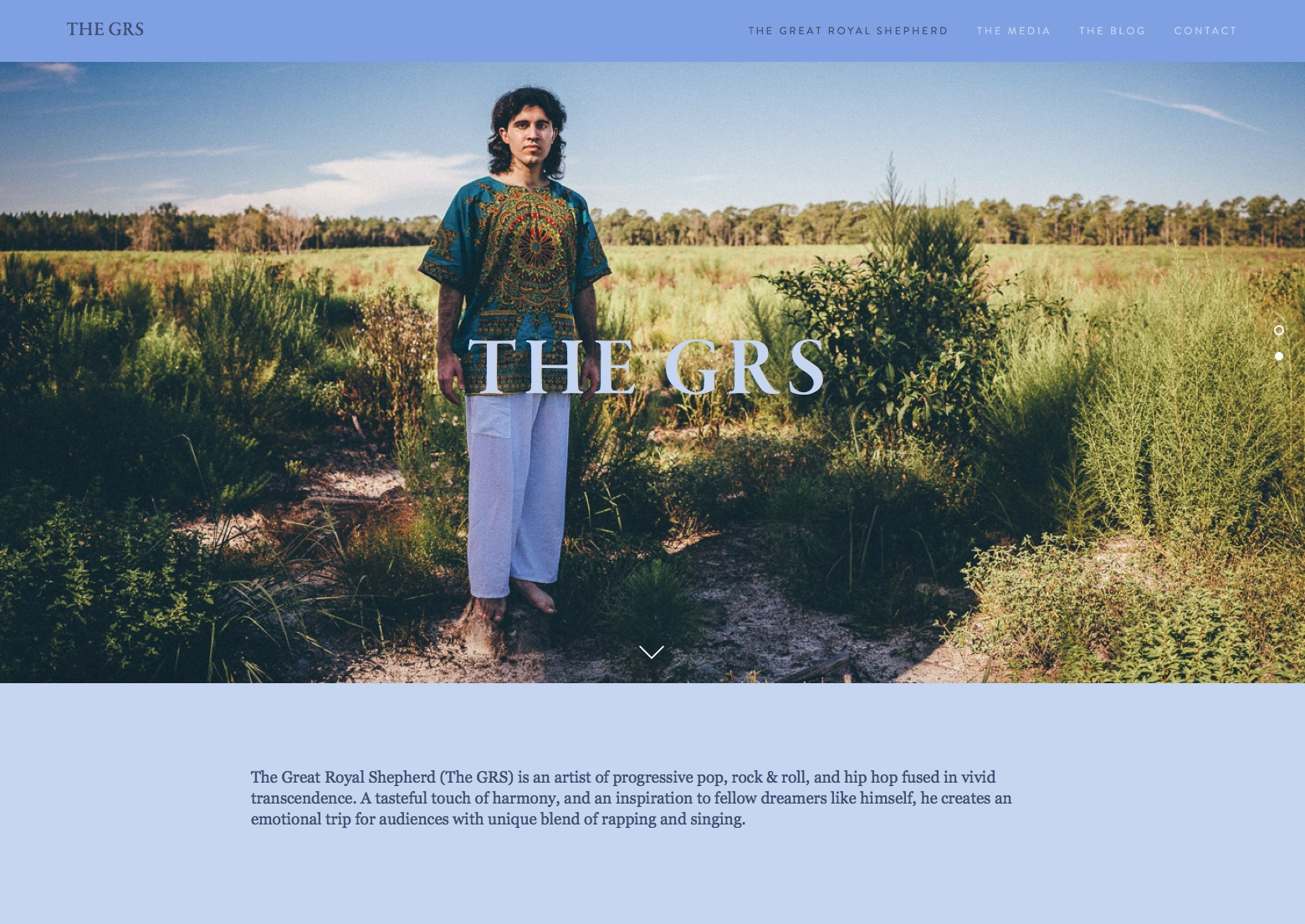 Website for The GRS created by samuel febres photography & design.