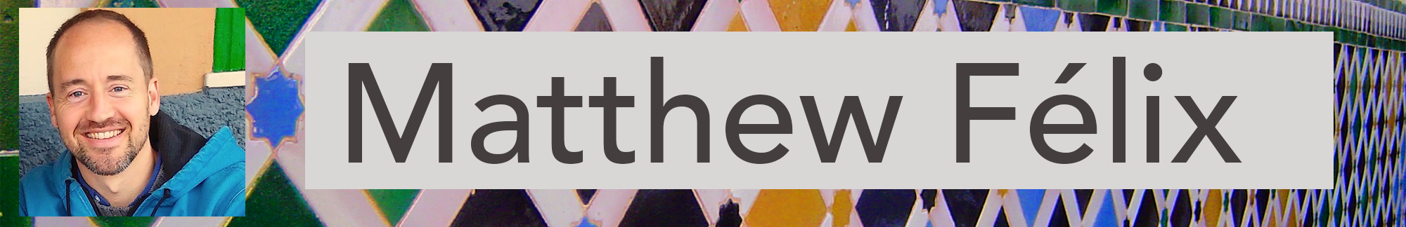 Banner for News page for novelist, travel writer, and podcast producer and host author Matthew Félix.