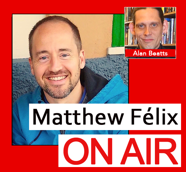 """""""Matthew Felix on Air"""" video podcast: Author Matthew Félix talks with Borderlands Books' owner Alan Beatts about indie publishing and independent bookstores."""