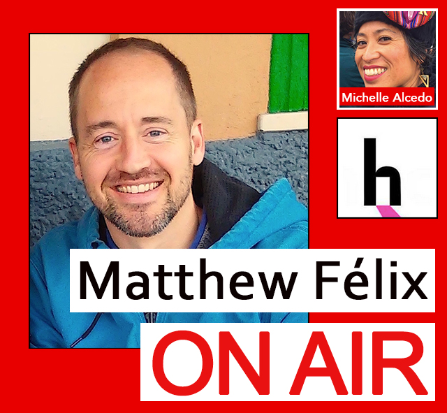 """""""Matthew Felix on Air"""" video podcast: Author Matthew Félix talks with Michelle Alcedo of San Francisco's Openhouse, working for LGBTQ senior housing."""