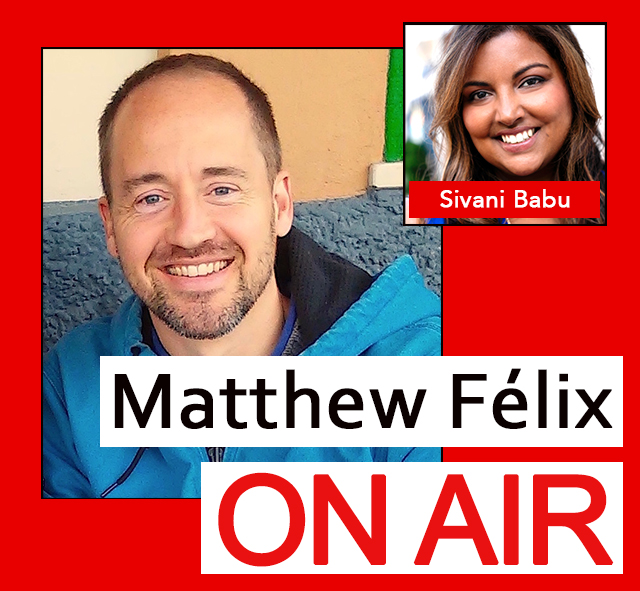 """Matthew Felix on Air"" video podcast: Author Matthew Félix talks with travel writer and photographer Sivani Babu about Dark Sky Conservation."