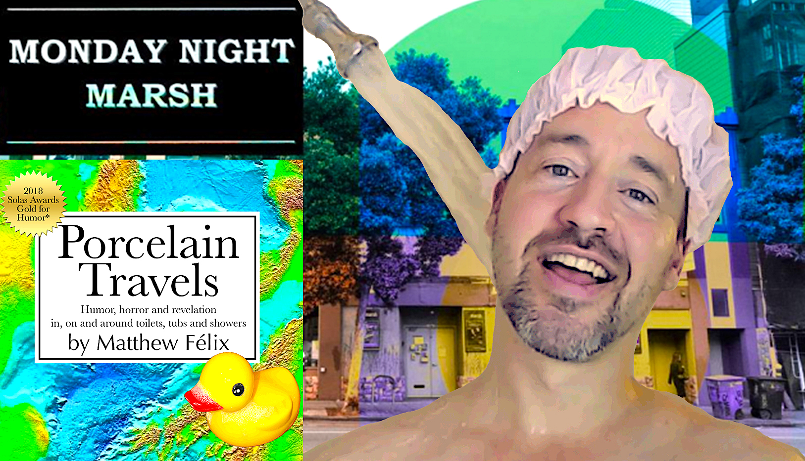 """""""Porcelain Travels"""" LIVE! 🌎🐥 Excited to announce that on March 11 and 25 """"author Matthew Felix"""" will be performing a solo show based on my new book, Porcelain Travels, live on stage!!! The show will be part of San Francisco's Marsh theater's Monday Night Marsh, a program spotlighting works-in-progress of emerging solo performers."""