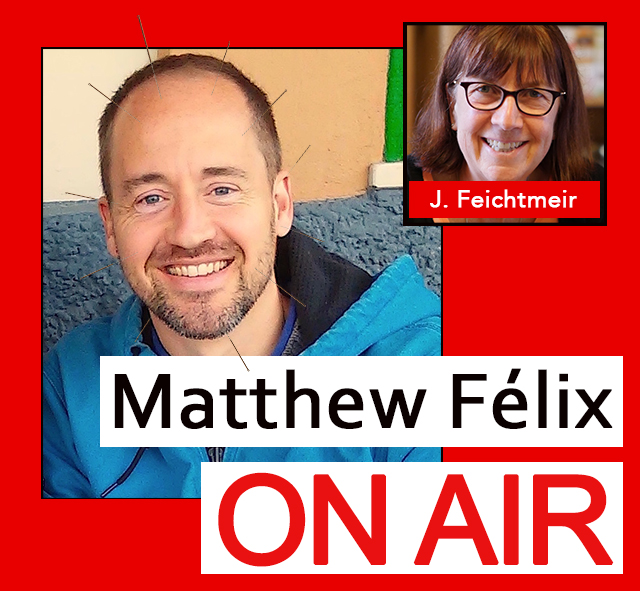 """Matthew Felix on Air"" video podcast: Author Matthew Félix talks with acupuncturist Jan Feichtmeir about acupuncture, cupping, and moxibustion."