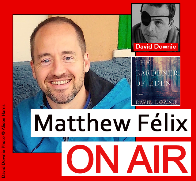 Matthew Félix on Air: Author David Downie.  Are you interested in Paris? Do you like suspenseful literary novels? Two unrelated questions, except that on this episode I talked about both with author David Downie.  David is a San Francisco native who has lived in Paris for over thirty years and has written a new novel, The Gardener of Eden, that takes place in the Pacific Northwest. We talked about Paris, his new novel, and much more.  David Downie has written for over 50 publications worldwide including Bon Appétit, The Los Angeles Times, Town & Country Travel, The San Francisco Chronicle, epicurious.com, and Salon.com. He is the author of the critically acclaimed Paris, Paris: Journey into the City of Light, three Terroir guides, as well as several cookbooks and crime novels.