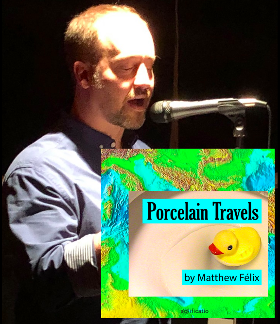 "New Matthew Felix ""Porcelain Travels podcast"" episode! Recorded LIVE 5/5 at the Stranger Than Fiction reading series!"