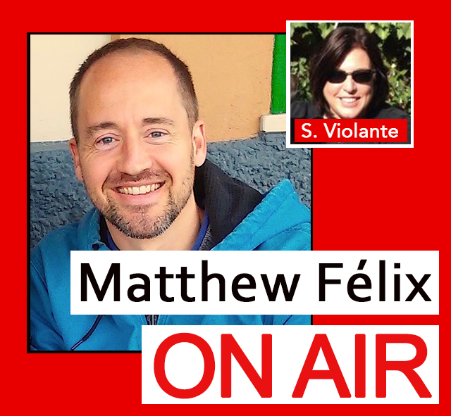 """Matthew Félix on Air"" video podcast with Susan Violante who talks about Crohn's disease, a chronic autoimmune-system-related disorder."