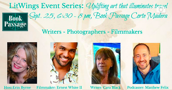 """Author Matthew Felix will be a presenter at author Erin Byrne's LitWings event, along with New York Times bestselling mystery author Cara Black and host of PBS travel show """"Fly Brother"""" Ernest White II."""